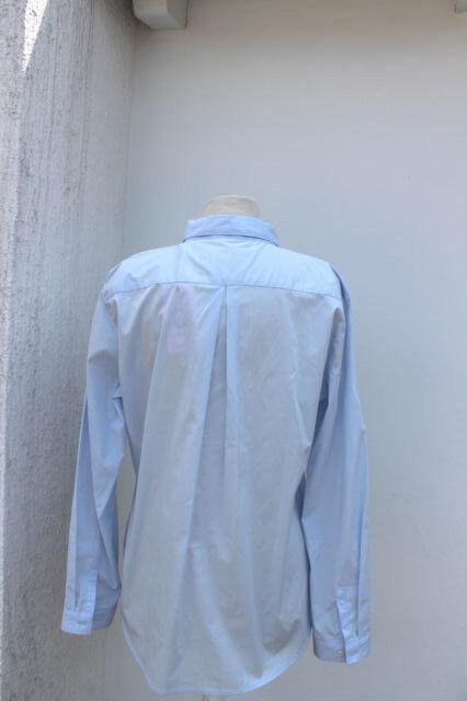 Emily Van den Bergh Camicia da Donna Donna Donna Camicia Blusa baumwollbluse Blu Toni Classico 070aa5