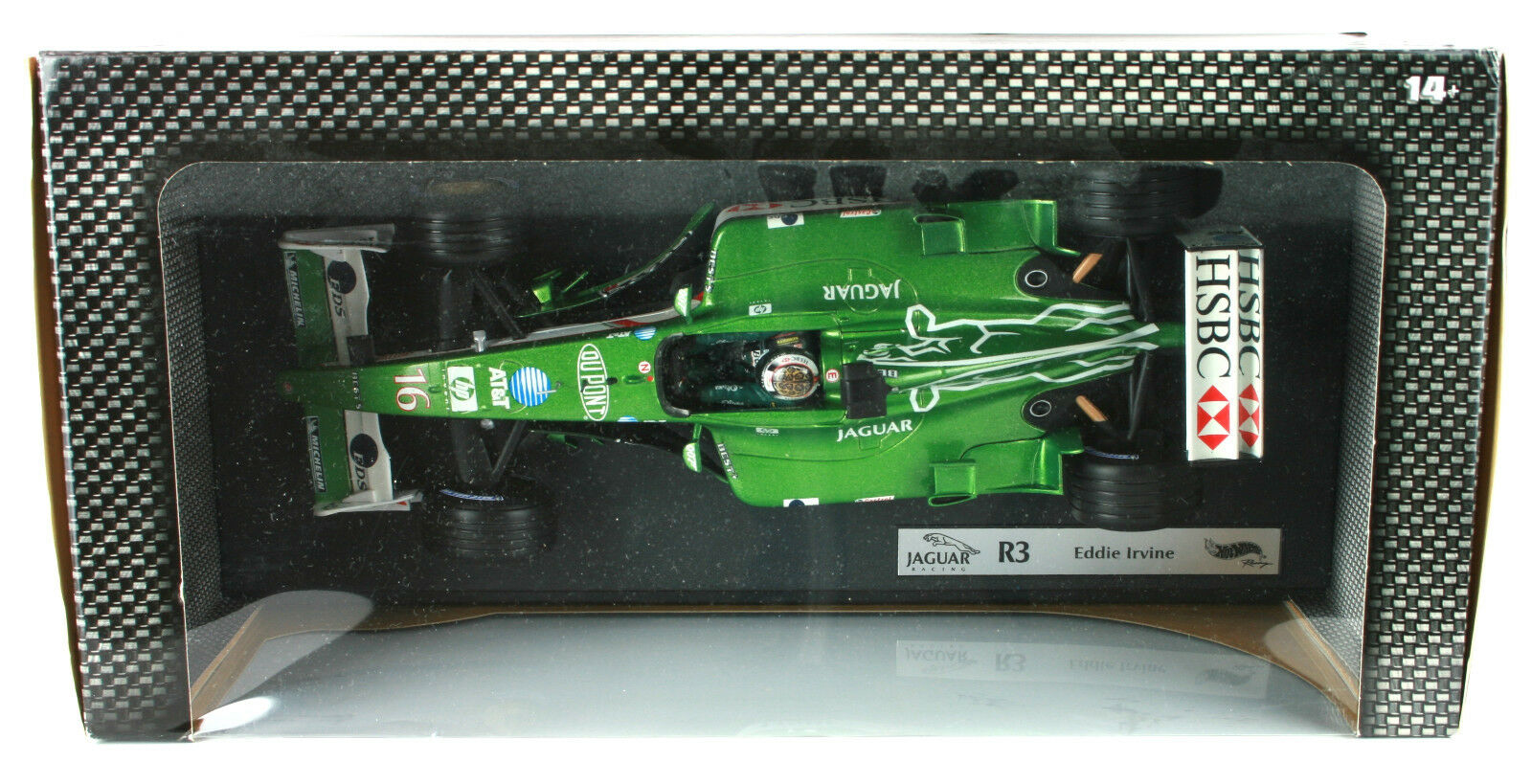 EDDIE EDDIE EDDIE IRVINE JAGUAR R3 2002 HOT WHEELS 1 18th F1 scale model voiture 24b7e0