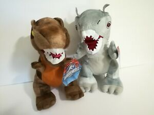 NEW-Gray-amp-Brown-DINO-Dinosaur-Jurassic-World-Jr-Universal-Pictures-Plush