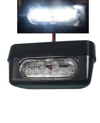 Eclairage De Plaque Immatriculation A Led Blanc Homologué E11 Moto Quad Voiture Eccellente (In) Qualità