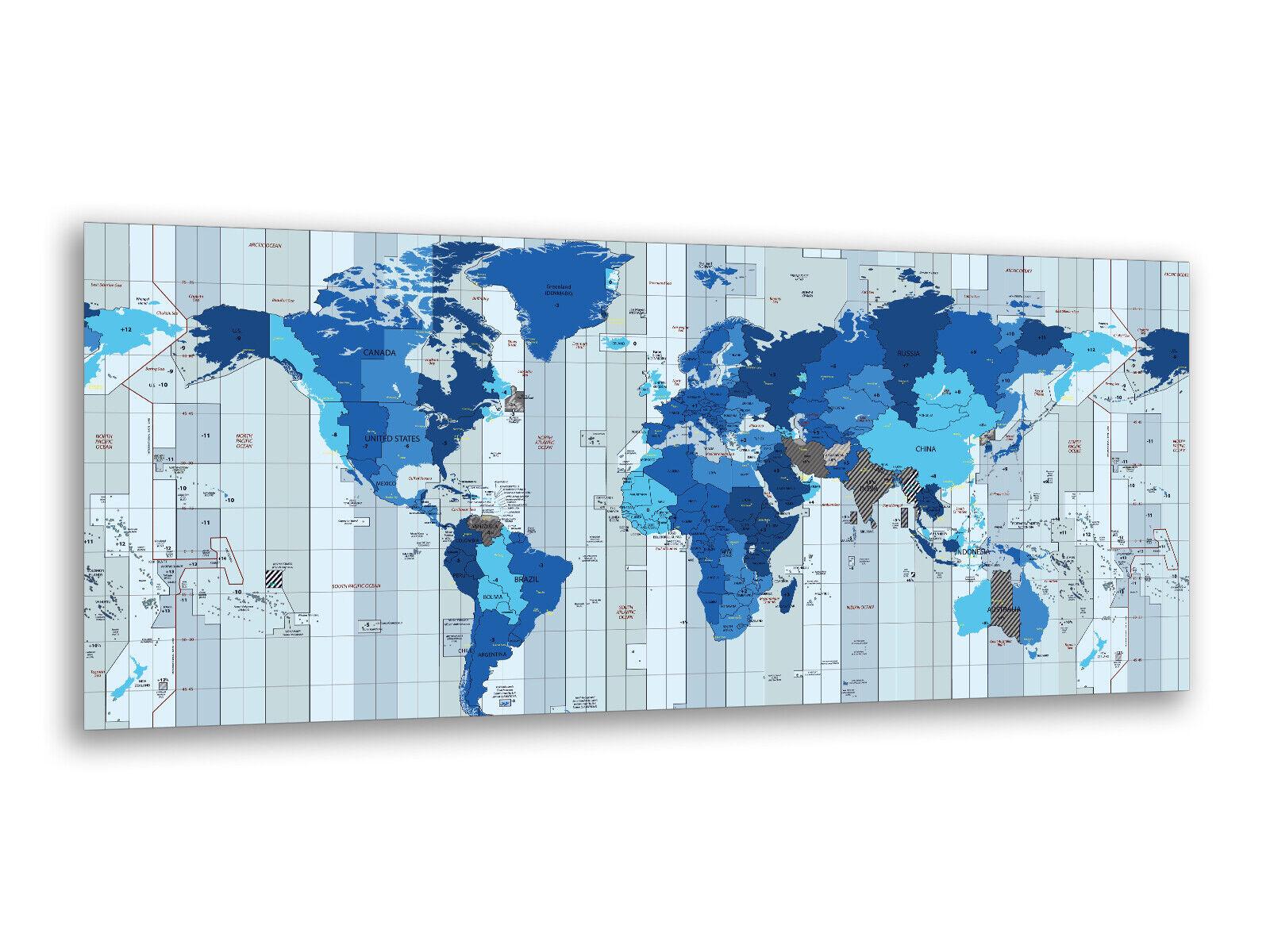 Photos de peintures murales 125 x 50 cm carte du monde partiellement ag312502879