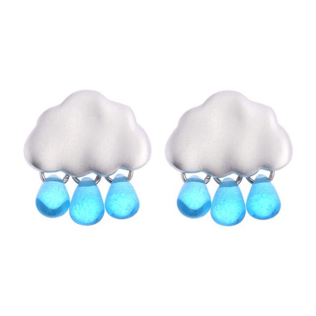 Earrings Pendant Rain Drop Cloud Women Acrylic Jewelry Ear Stud Chic