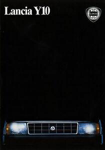Prospekt-Lancia-Y10-Autoprospekt-1989-Broschuere-brochure-Auto-broschyr-brosjyre