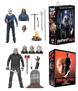 Neca Friday the 13th parte 2 y parte 5 Ultimate Jason Voorhees Figura De Acción
