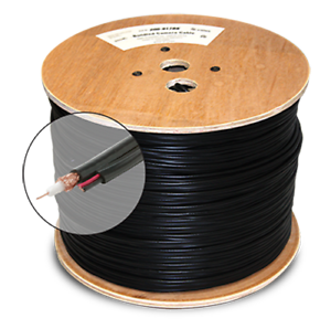 1000 ft RG59 Solid Copper Siamese CCTV Cable Video /& Power ETL  White Color