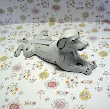 Dog Door Stop Cast Iron Doggie Prop Animal Canine Shabby Chic White Vet Doorstop