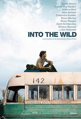 INTO THE WILD ART POSTER A4 A3 A2 A1 CINEMA MOVIE LARGE FORMAT