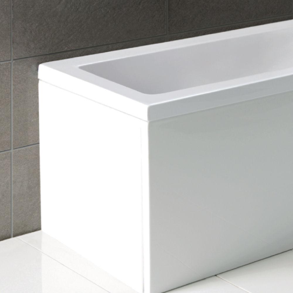 L Shape / P Shape Shower Bath End Panel 700mm 70cm White