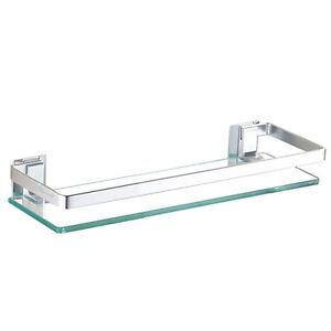 Superbe Image Is Loading Bathroom Shelf Glass Wall Mount Bath Space Saver