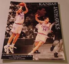 KU Jayhawk Basketball Program - Rice Dec 22, 1994