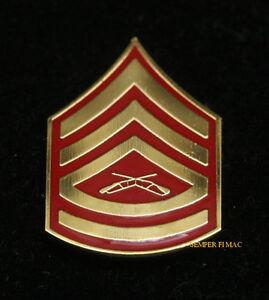 GUNNERY-SERGEANT-GYSGT-E7-CHEVERON-RANK-LAPEL-HAT-PIN-UP-US-MARINES-VETERAN-USMC