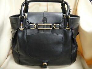 4a43ad8e43 Authentic JIMMY CHOO Black Leather with Gold Tone Hardware Satchel ...