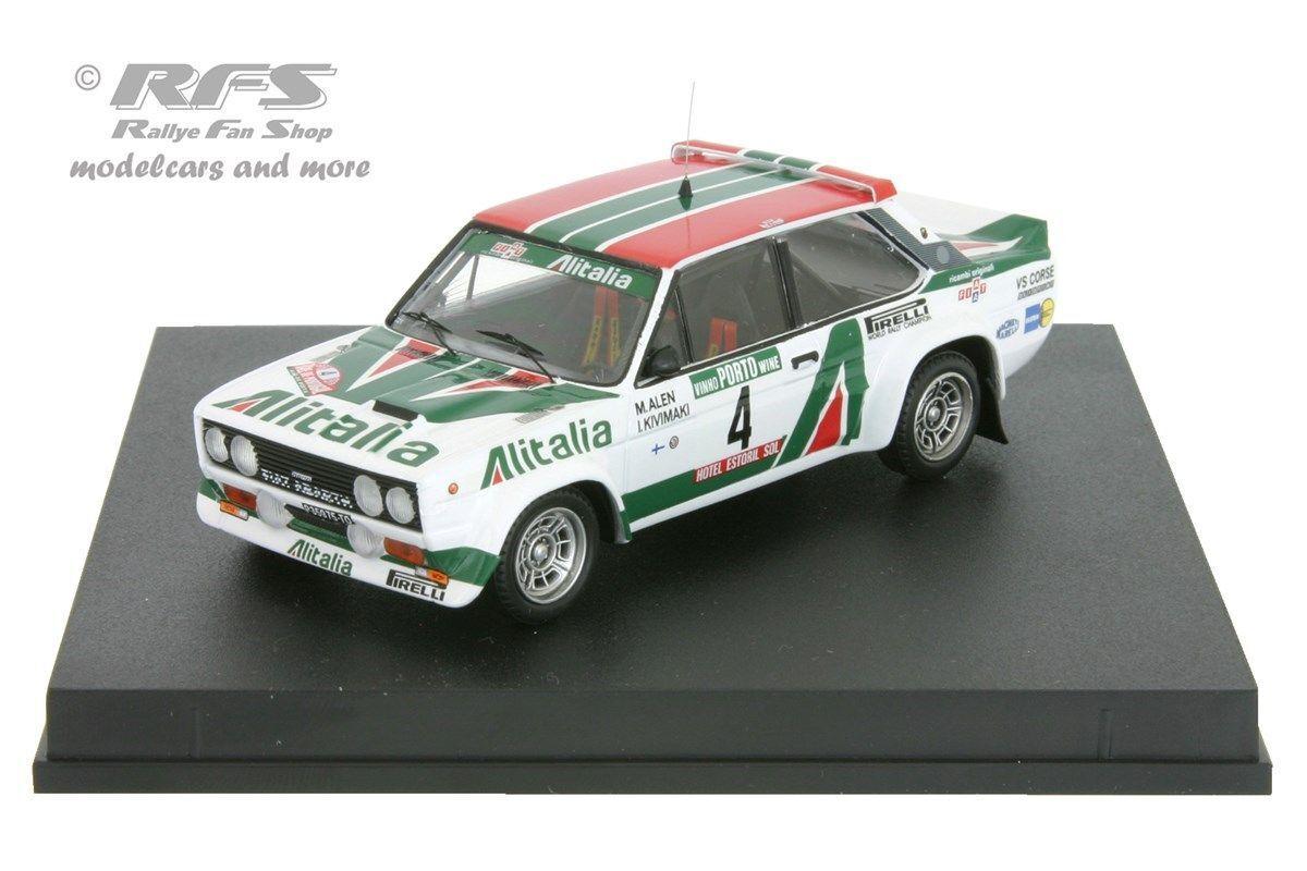 FIAT 131 ABARTH-Alitalia-rallye portugal 1978-ALEN - 1 43 trofeu 1406