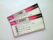 CLIFF RICHARD MEMORABILIA - Un-Used Ticket Stub(s) Birmingham LG Arena 22/10/11
