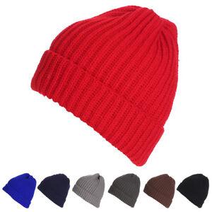 bbcb04252c7 Fashion Men Women Plain Knit Beanie Hat Winter Warm Ski Slouchy ...
