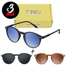 Tris occhiali da sole TWIG Pack WEIL uomo/donna UV400 tondi vintage fashion