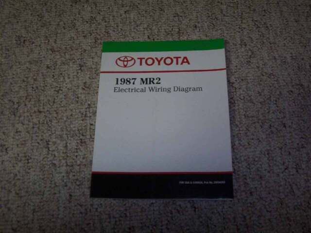 1987 Toyota Mr2 Electrical Wiring Diagram Manual Std Aw11
