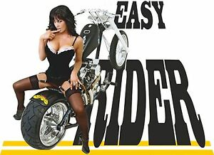 Motorcycle-Hells-Biker-Sexy-Pin-Up-Girl-Chopper-Bike-Road-Easy-Rider-T-Shirt