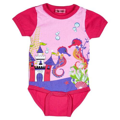 56 62 68 74 ME TOO ♥ Baby Mädchen Body Kurzarm SEEPFERDCHEN in pink Gr