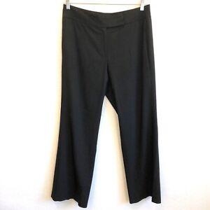 Elie-Tahari-Womens-Staight-Leg-Trouser-Pants-Size12-Black-Silk-Blend-EUC