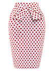 femme floral vintage rétro moulant crayon taille haute extensible Midi jupe