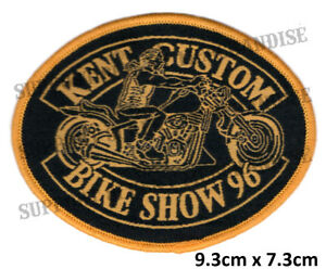 HELLS-ANGELS-KENT-CUSTOM-BIKE-SHOW-1996-Patch-HIGHLY-COLLECTABLE-RARE-KBCS