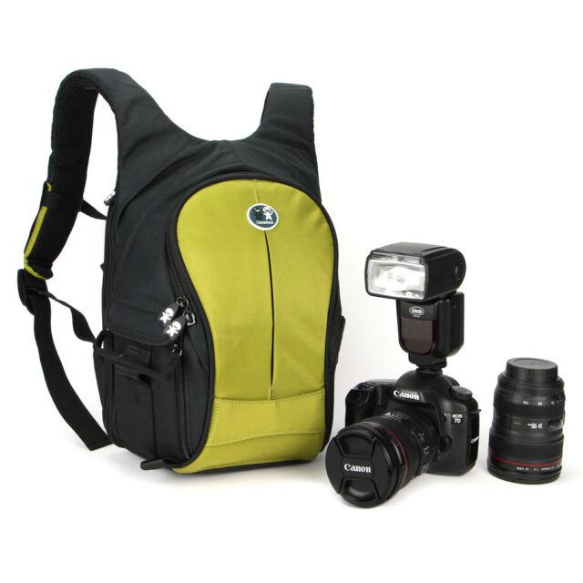 Caseman CP04 Waterproof SLR DSLR Small Camera backpack Bag Case for Canon  Green