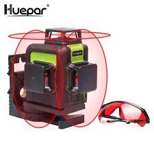 Huepar 12 Lignes 3D Croix Ligne Laser Niveau Auto-Nivellement 360 degrés Vertica