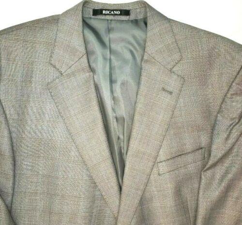 Tandogan Ricano Mens 60 Gray Blazer Suit Jacket Sp
