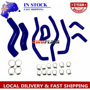 Silicone-Radiator-Hose-For-TOYOTA-Hilux-KUN26R-SR-amp-SR5-3-0L-2005-2014-Blue-4WD