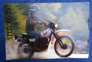 Phenomenal Details About Vintage 1983 Yamaha Motorcycle Brochure Xt125 Xt200 Xt250 Enduro Dirt Bike Camellatalisay Diy Chair Ideas Camellatalisaycom