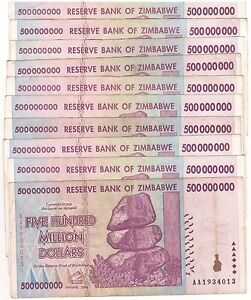10-X-Zimbabwe-500-Million-Dollars-AA-AB-2008-50-amp-100-Trillion-Series-Circulated