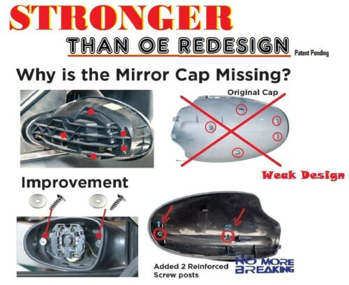 PM10 Mirror Cap Cover Pair Set A15 Sparkle Red For 02-06 Nissan Altima B720 B721