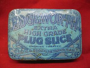 Antique-Edgeworth-Plug-Slice-Smoking-Tobacco-Advertising-Tin-Richmond-VA