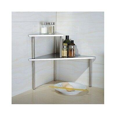 Shelf For Kitchen Corner 2 Tier Bathroom Organizer Countertop Storage Rack New Ebay