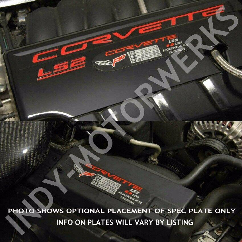 Ls6 Engine Horsepower: C5 CORVETTE 01 ZO6 METAL SPEC ID PLATE LS6 385HP Z06