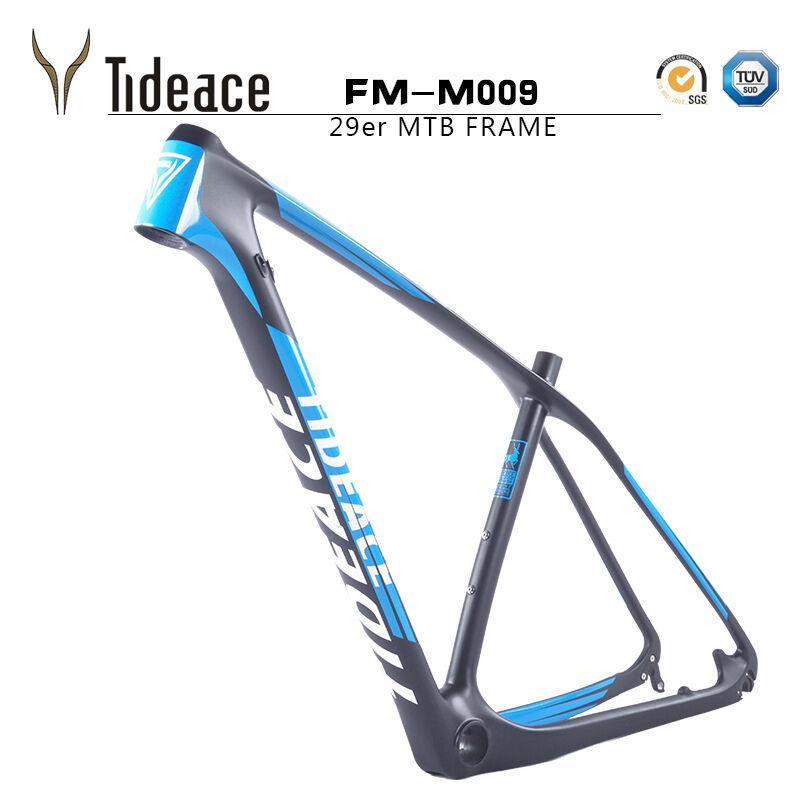 Tideace azul 29ER FM-M009 Carbon Fiber Mountain Bike Frame PF30 Glossy Decals
