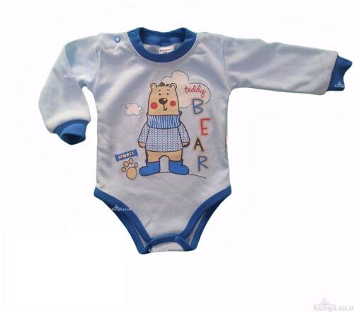 BNWT Baby Toddler Boys Bodysuit //Playsuit// SOFT*100/% Cotton 9-12//12-18Months