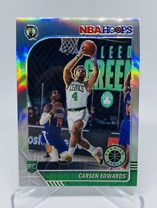 2019-20 Panini Nba Hoops Carsen Edwards Silver Prizm Rookie Card #227  Celtics