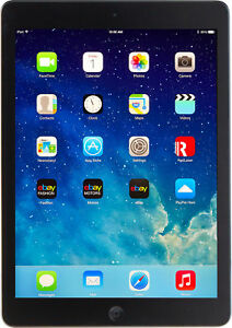 "Apple iPad Air A1474 MD785LL 16 GB 9.7"" Retina BLACK & GREY WiFi"