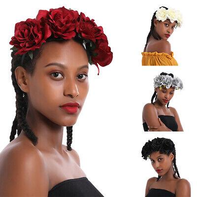 Rose Flower Headband Garland Wedding Party Festival Crown Hair Band Head Band UK