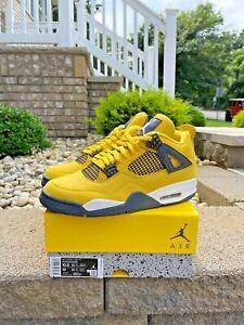 Nike Air Jordan 4 Retro OG Lightning Tour Yellow Men's Size(s) 7.5   10.5   11.5