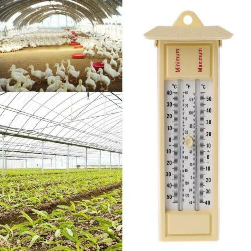 Max Min Thermometer-Garden Greenhouse Wall Temperature Monitor-40 to 50℃/120℉ Home & Garden