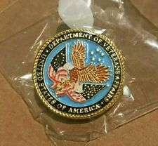 U.S. DEPT VETERANS AFFAIRS SEAL PIN lapel challenge coin NYPD FBI DEA CBP DSS