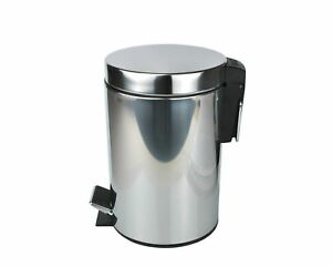 3 Liter Abfalleimer Metall Treteimer Eimer Badeimer Kosmetikeimer Mülleimer