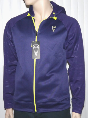 Under Armour Men/'s Loose Fit Purple Pride//Vis Yellow Hooded Jacket *size choices