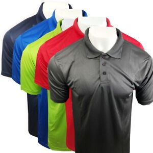 Mens-Uneek-Ultra-Cool-Acitve-Polo-Shirt-140-gsm-100-Polyester-Breathable-Fabric