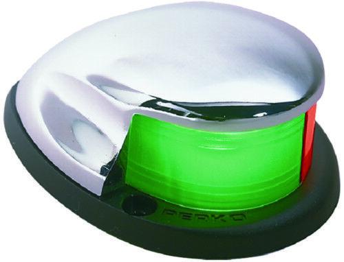 Perko Boot Marine Zweifarbig Schleife Licht Verchromt Zinklegierung /& Grün