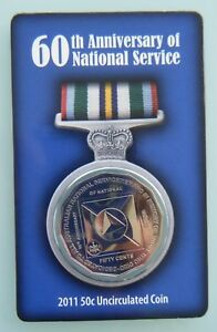 2011-UNC-50c-Carded-Coin-60th-Anniversary-of-National-Service