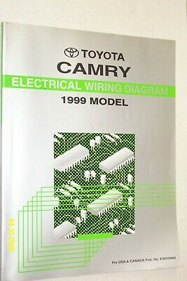 1999 Toyota Camry Electrical Wiring Diagram Shop Manual Ewd Ebay